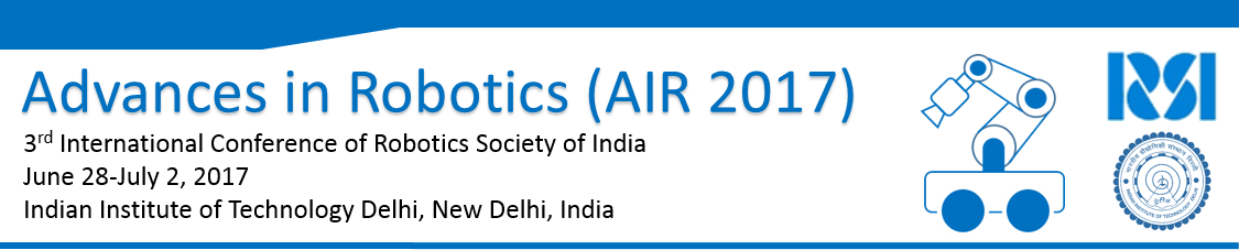 Advances in Robotics (AIR 2017)